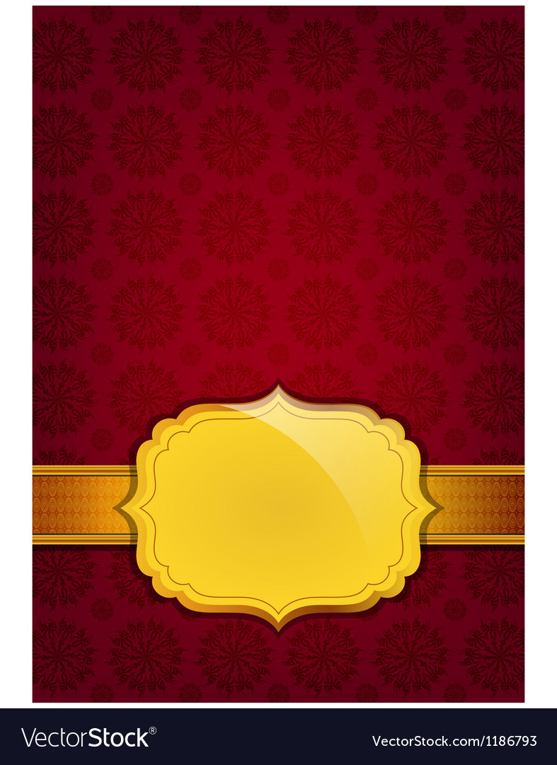 Red abstract texture and golden ribbon vector | Price: 1 Credit (USD $1)