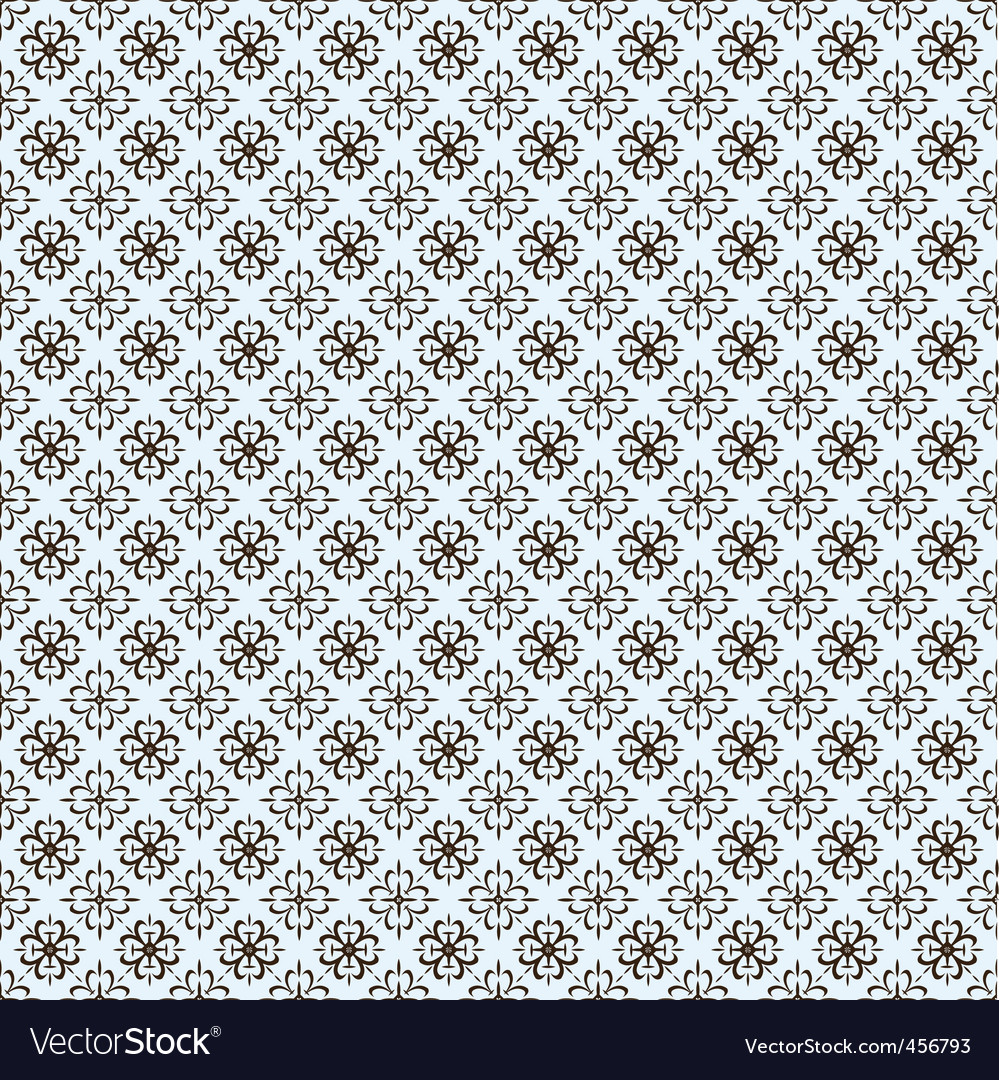 repeating ornate clover pattern vector | Price: 1 Credit (USD $1)