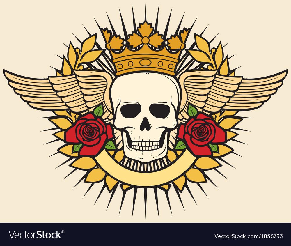 Skull symbol - skull tattoo design vector | Price: 1 Credit (USD $1)