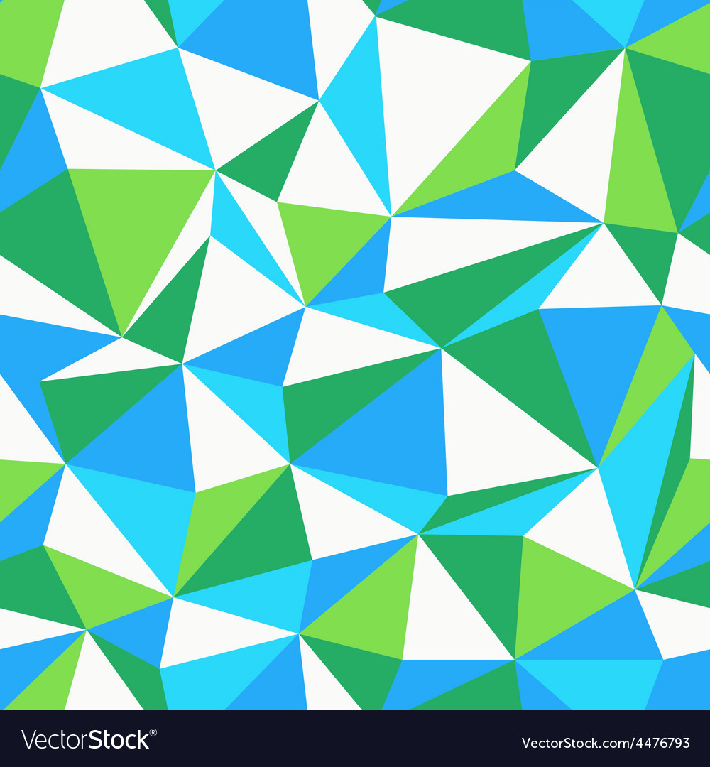 Triangle green and blue pattern seamless vector | Price: 1 Credit (USD $1)