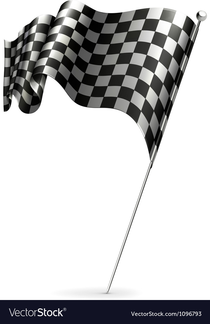 Waving flag checkered vector | Price: 1 Credit (USD $1)