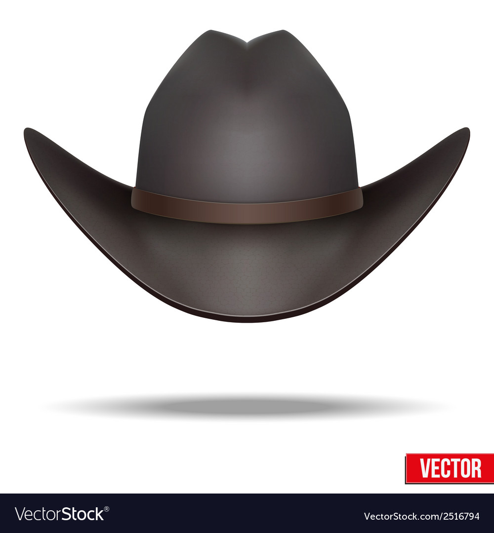 Black cowboy hat  isolated on white background vector | Price: 1 Credit (USD $1)