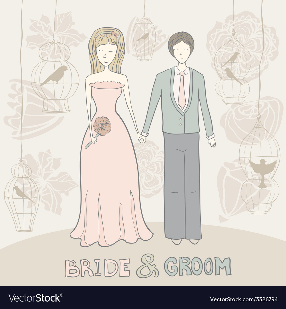 Brideandgroomflowers vector | Price: 1 Credit (USD $1)