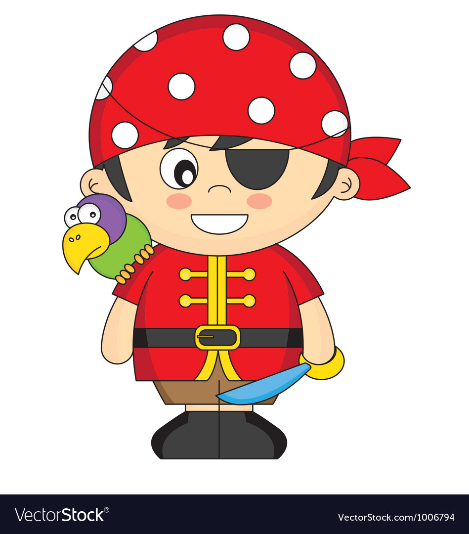 Child dressed as pirate vector | Price: 3 Credit (USD $3)