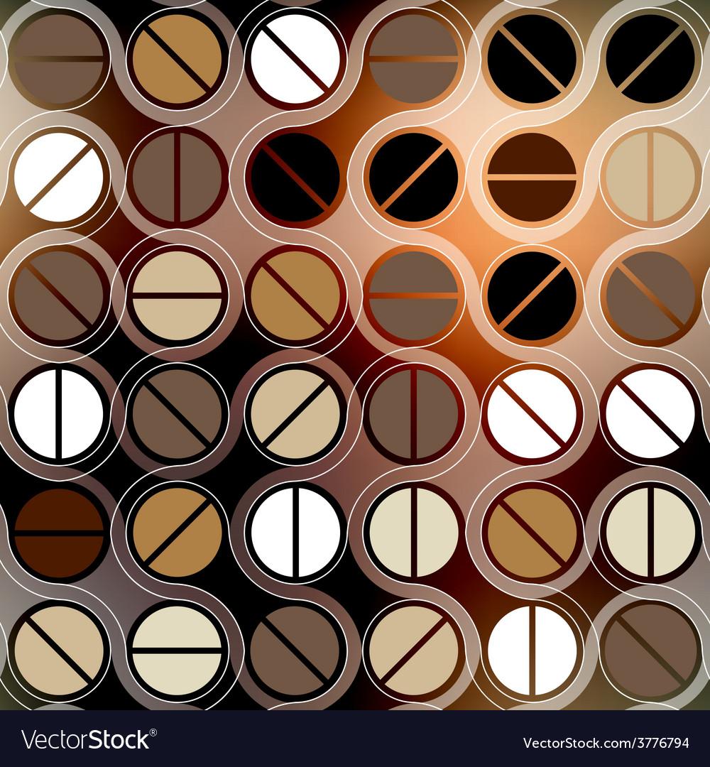 Coffee geometric pattern in retro style vector | Price: 1 Credit (USD $1)