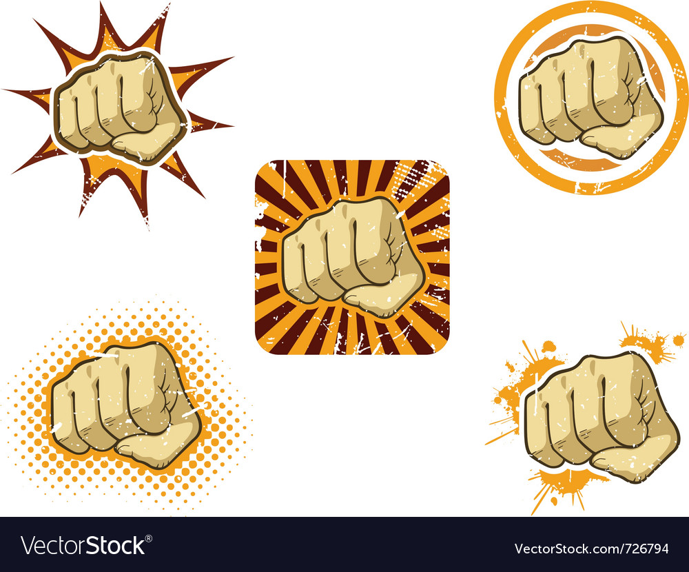 Fist of fury vector | Price: 1 Credit (USD $1)