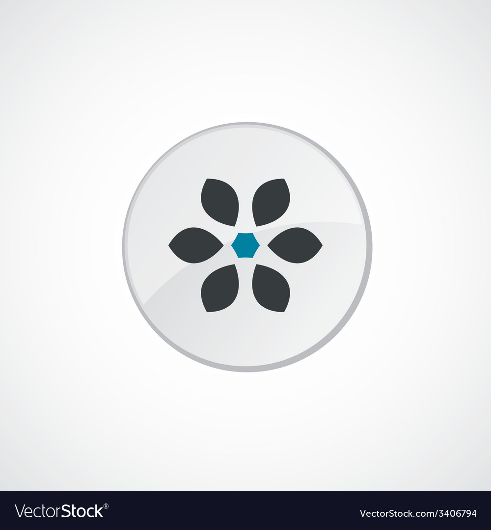 Flower icon 2 colored vector | Price: 1 Credit (USD $1)