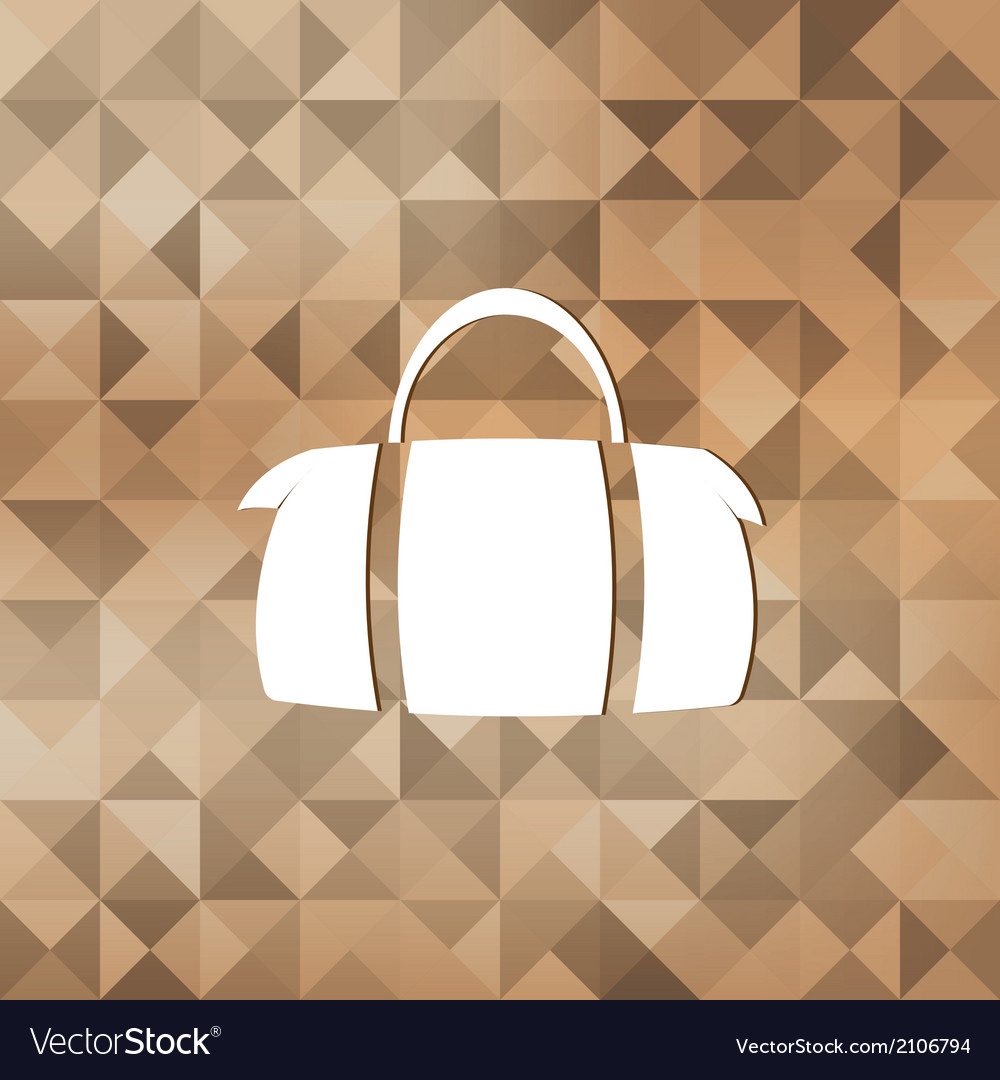 Hipster modern bag icontriangle background vector | Price: 1 Credit (USD $1)