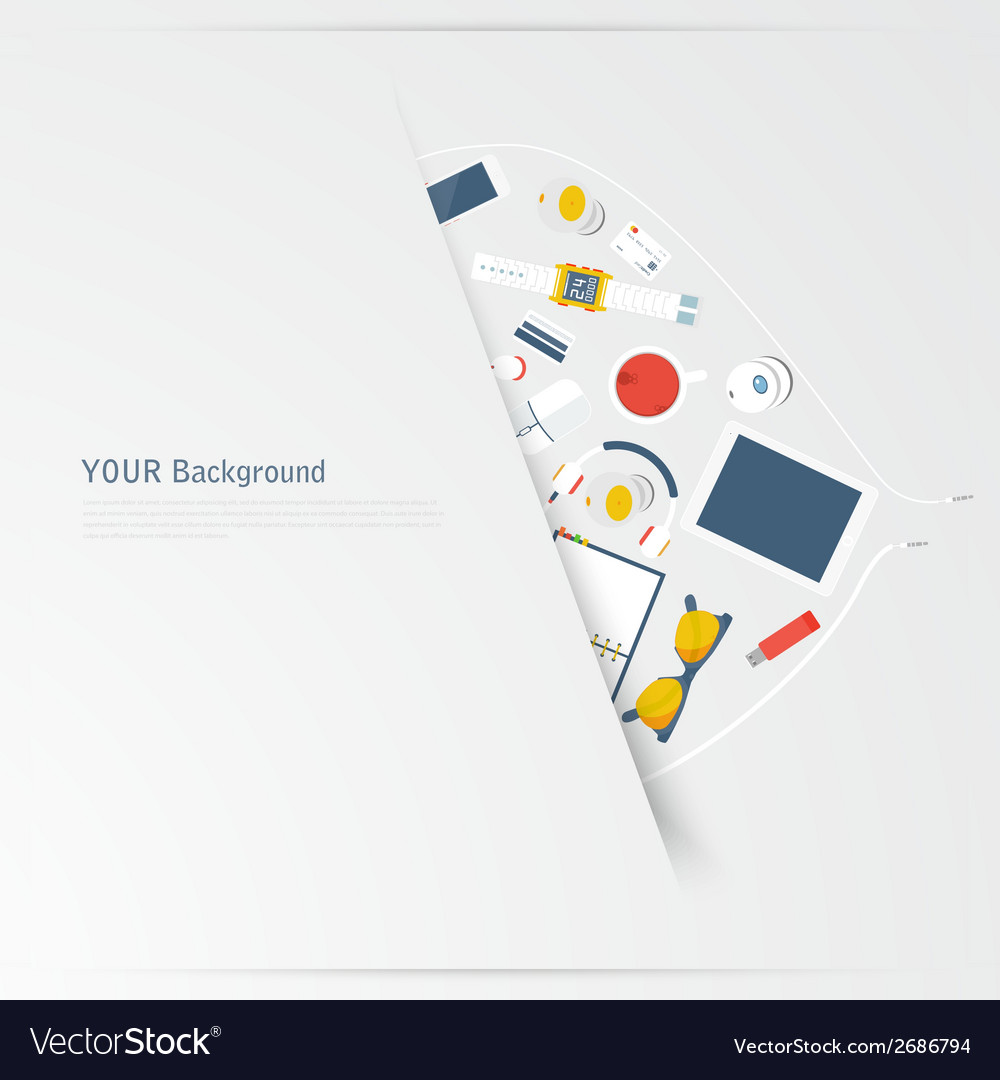 Im fond of gadgets set flat business vector | Price: 1 Credit (USD $1)