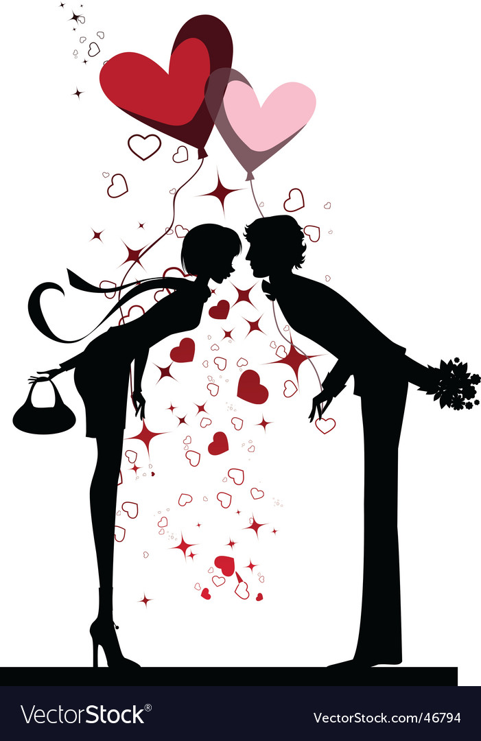 Kissing couple vector   Price: 1 Credit (USD $1)
