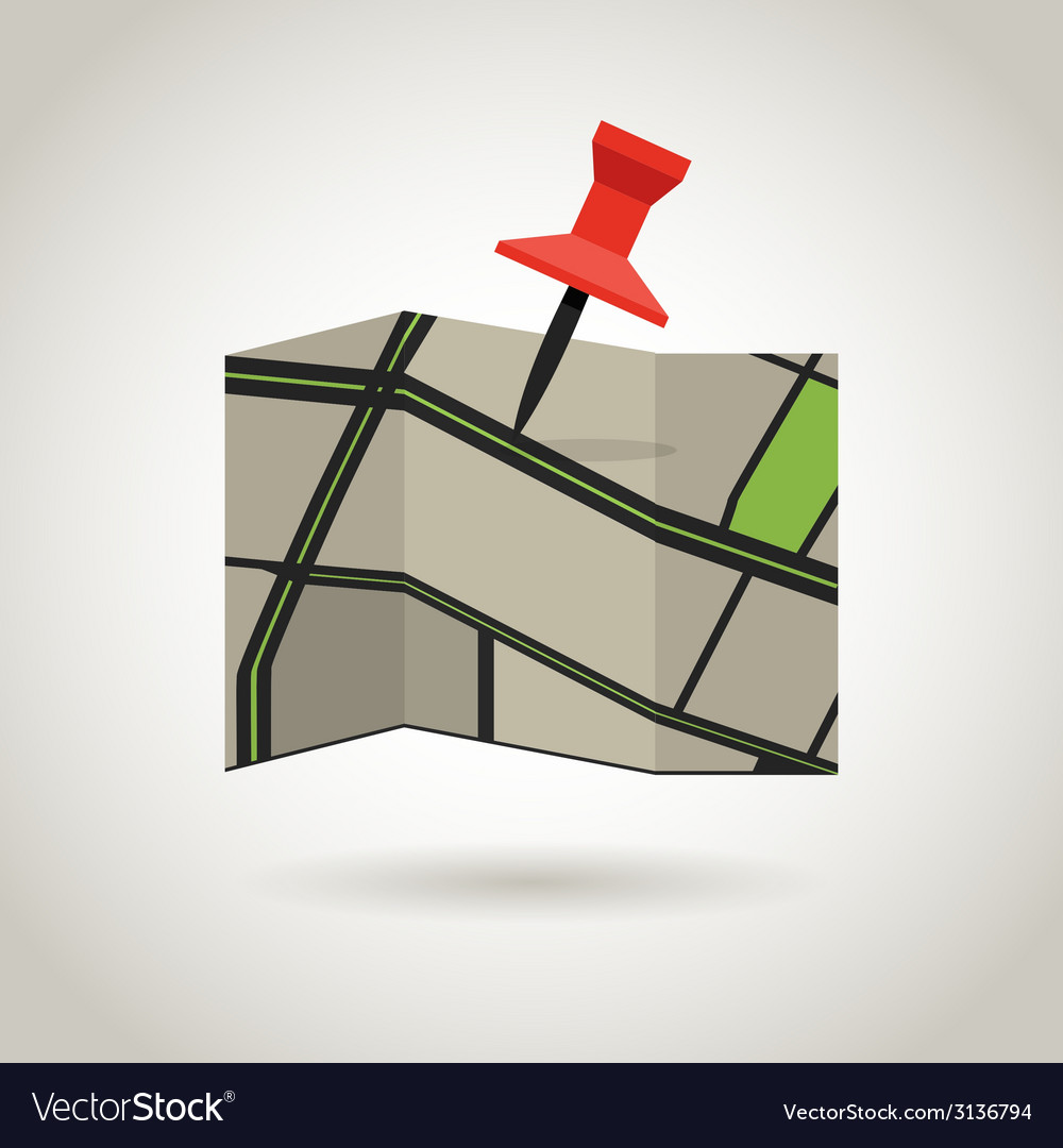 Map and a red pin guidence concept vector   Price: 1 Credit (USD $1)