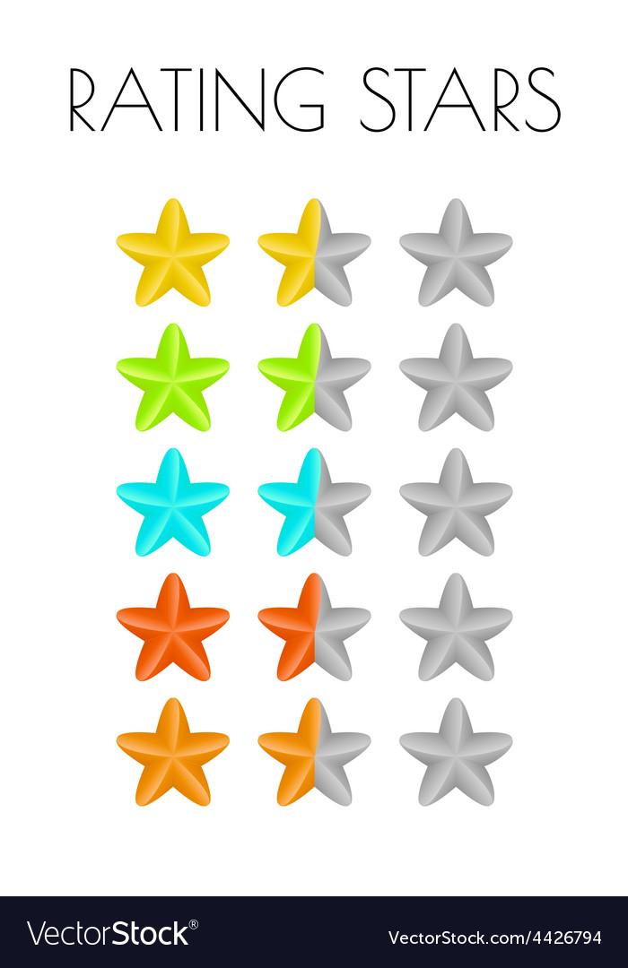 Rating stars vector | Price: 1 Credit (USD $1)