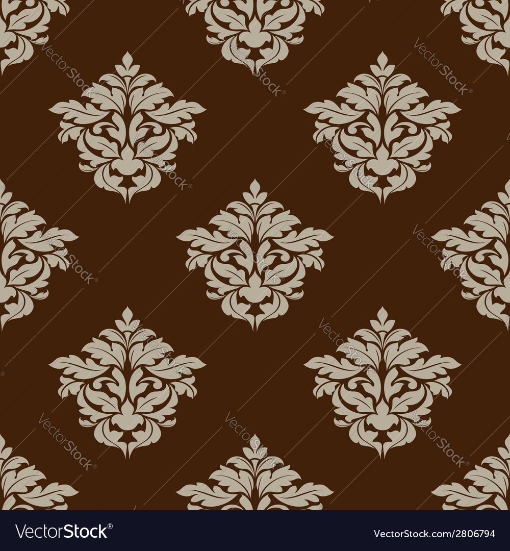 Retro ochre seamless pattern vector   Price: 1 Credit (USD $1)