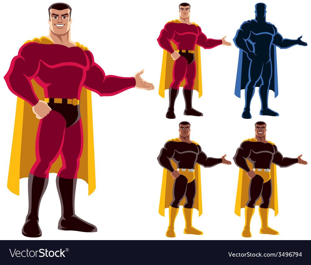 Superhero presenting vector | Price: 3 Credit (USD $3)