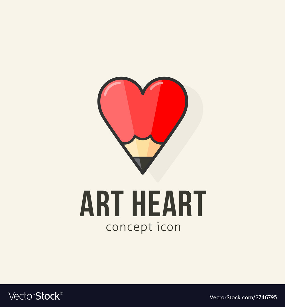 Art heart abstract concept icon vector | Price: 1 Credit (USD $1)