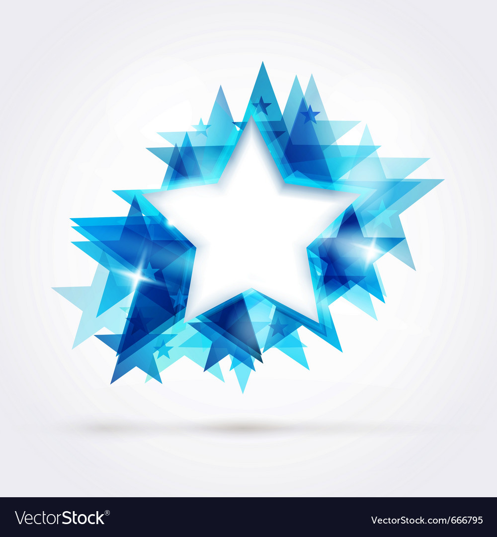Blue star frame vector | Price: 1 Credit (USD $1)