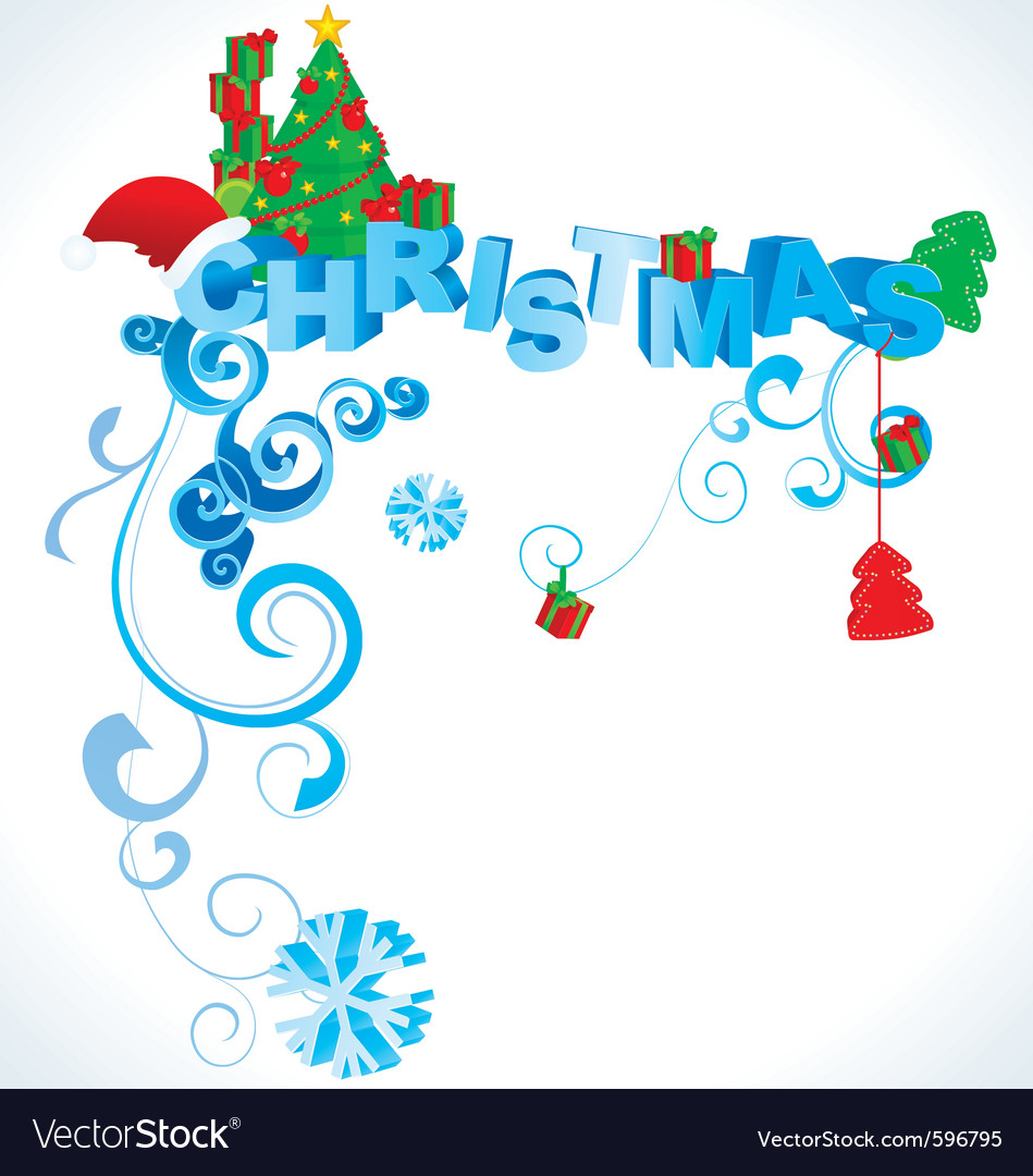 Christmas 3d text vector | Price: 1 Credit (USD $1)