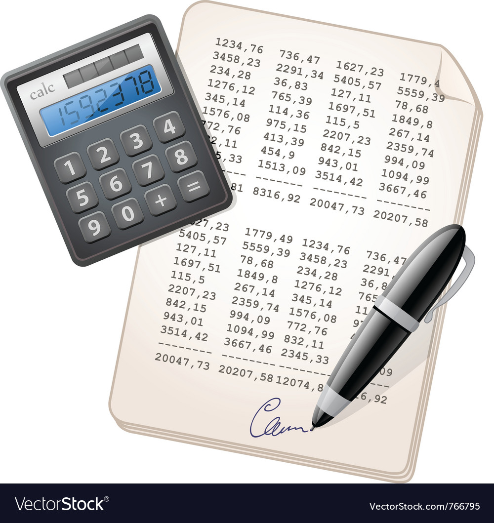 Financial report vector | Price: 3 Credit (USD $3)