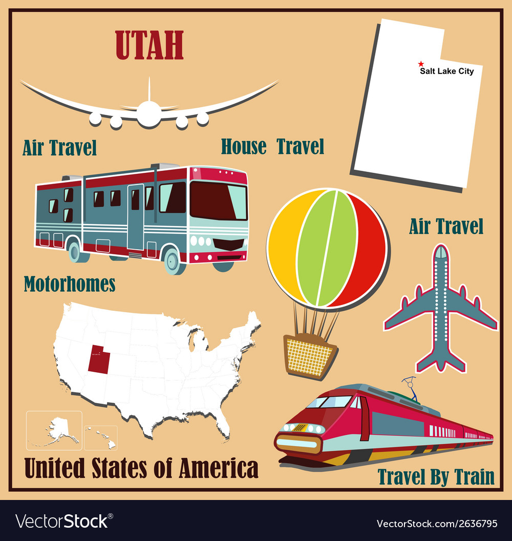 Flat map of utah vector | Price: 1 Credit (USD $1)