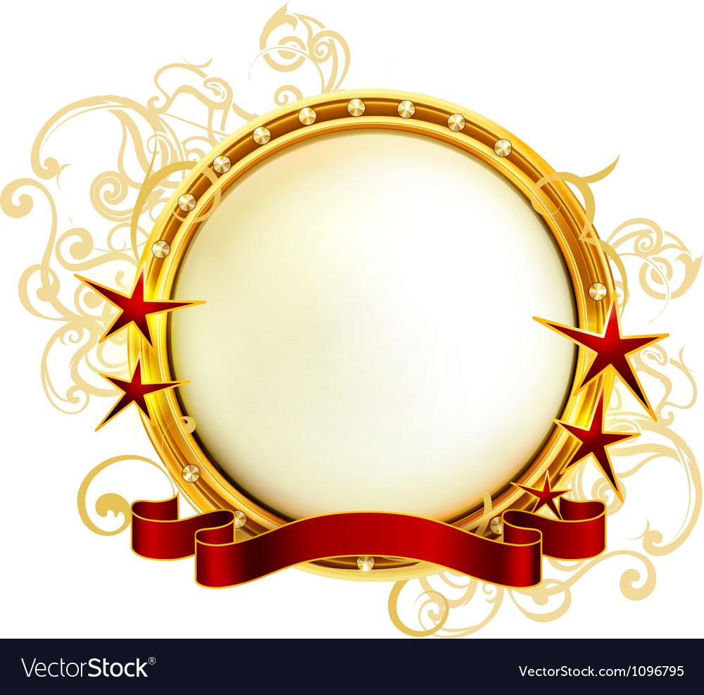 Golden emblem vector   Price: 1 Credit (USD $1)