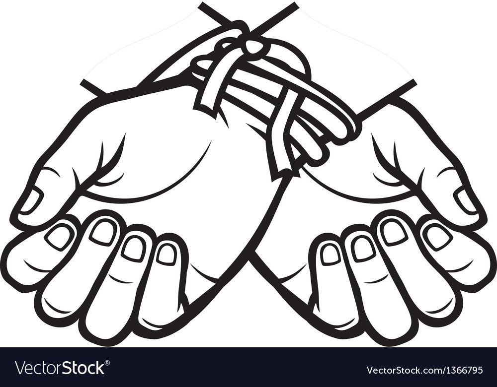 Hands tied vector | Price: 1 Credit (USD $1)