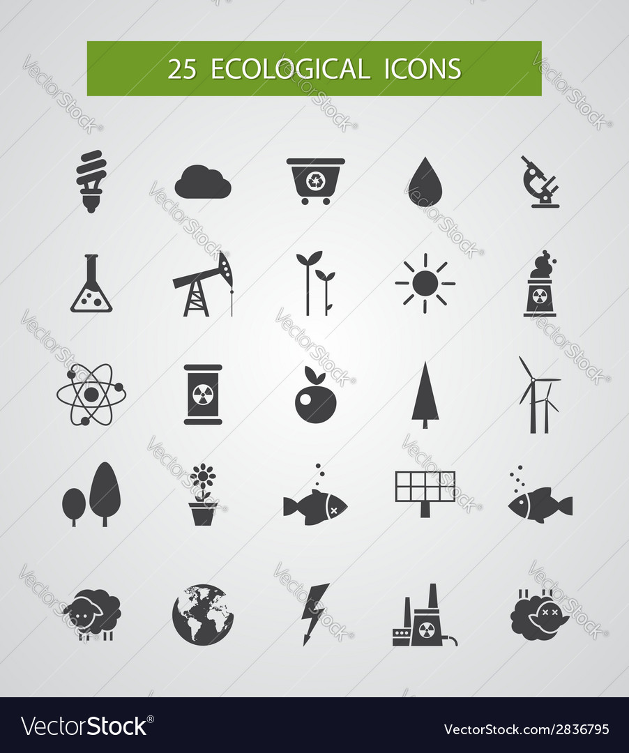 Modern flat design conceptual ecological icons vector | Price: 1 Credit (USD $1)