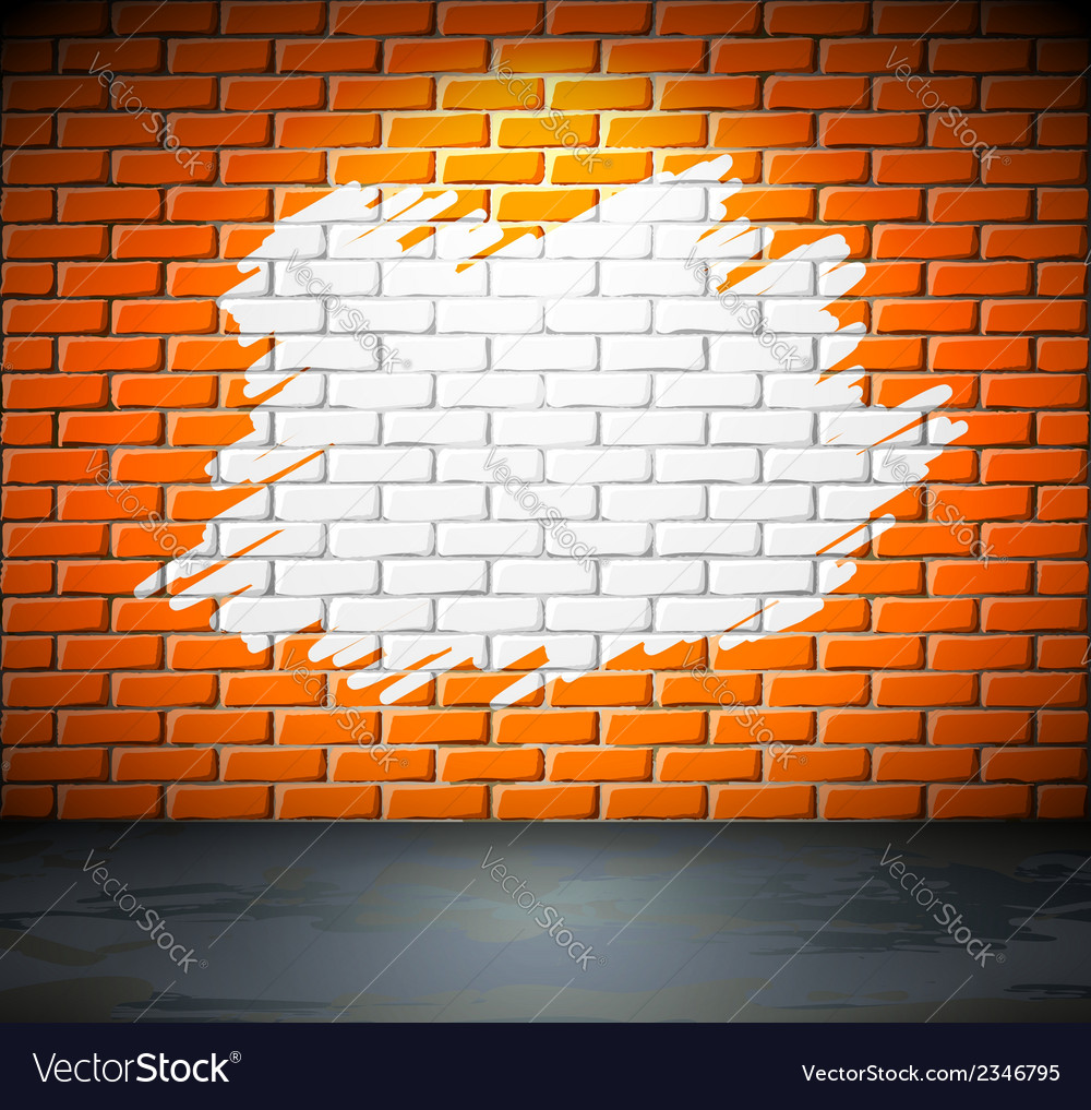 Painted brick wall vector | Price: 1 Credit (USD $1)