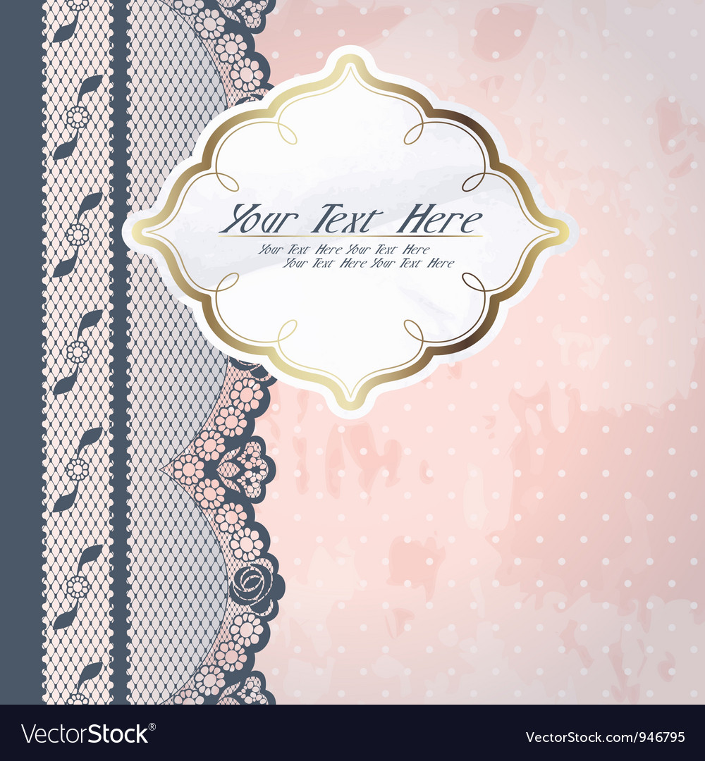 Pink background with lace vector | Price: 1 Credit (USD $1)