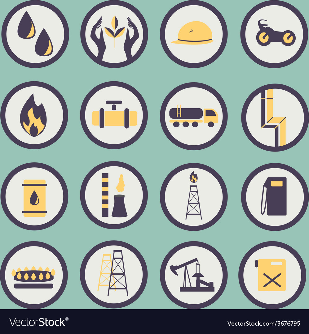 Set of icons of the gas and oil industry vector | Price: 1 Credit (USD $1)