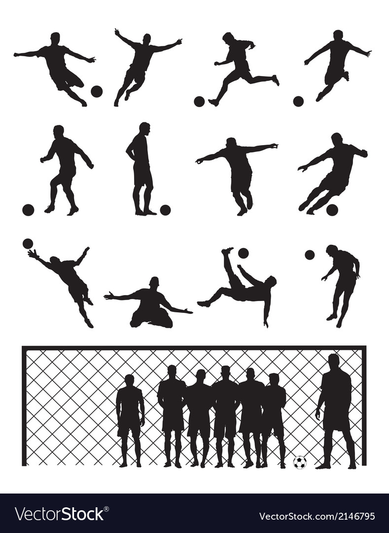 Set of soccer player vector | Price: 1 Credit (USD $1)