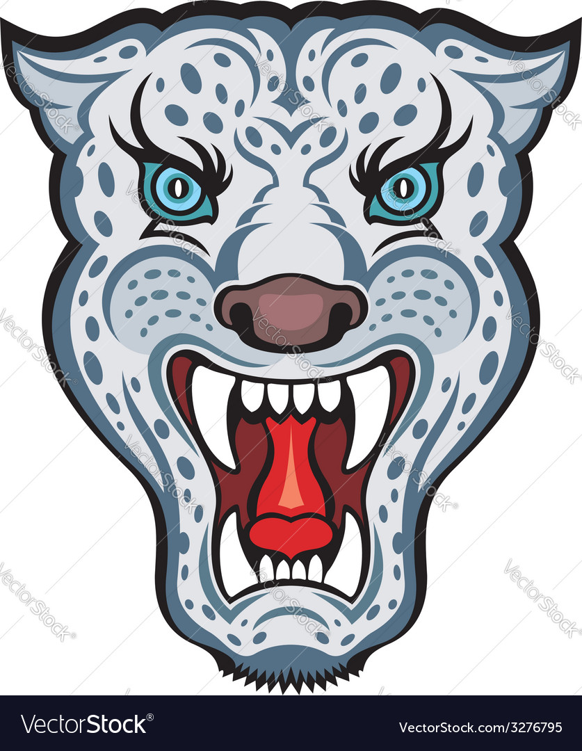 Snow leopard vector | Price: 3 Credit (USD $3)