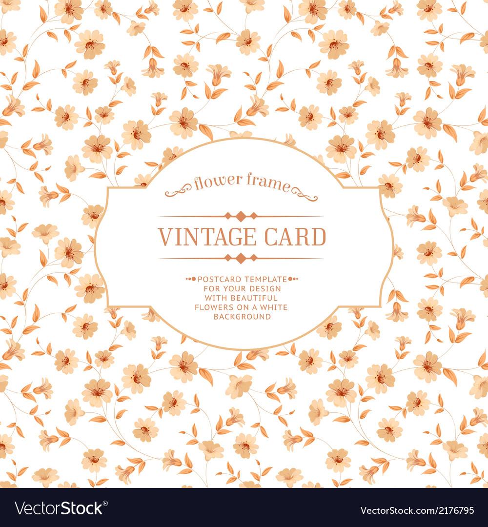 Vintage card design vector   Price: 1 Credit (USD $1)
