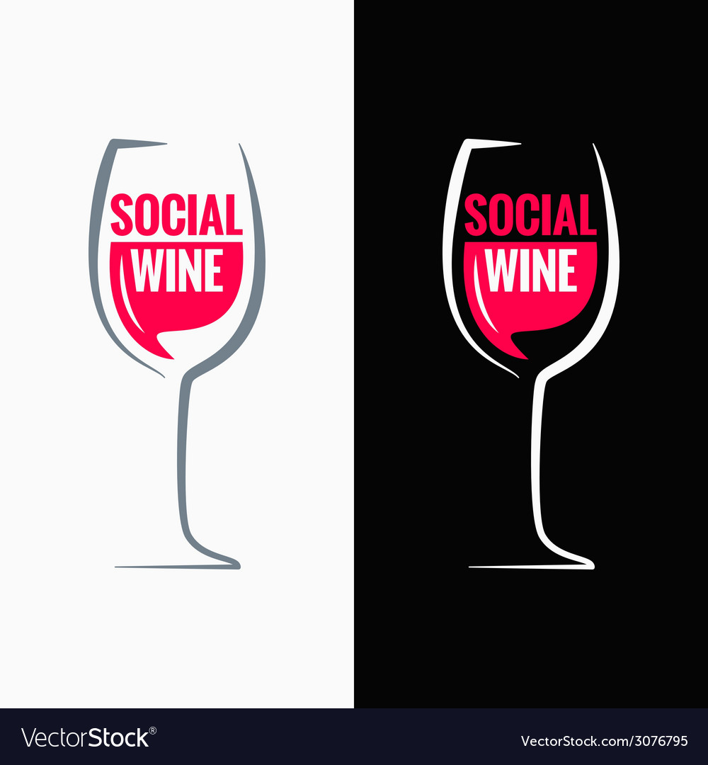 Wine glass social media concept background vector | Price: 1 Credit (USD $1)