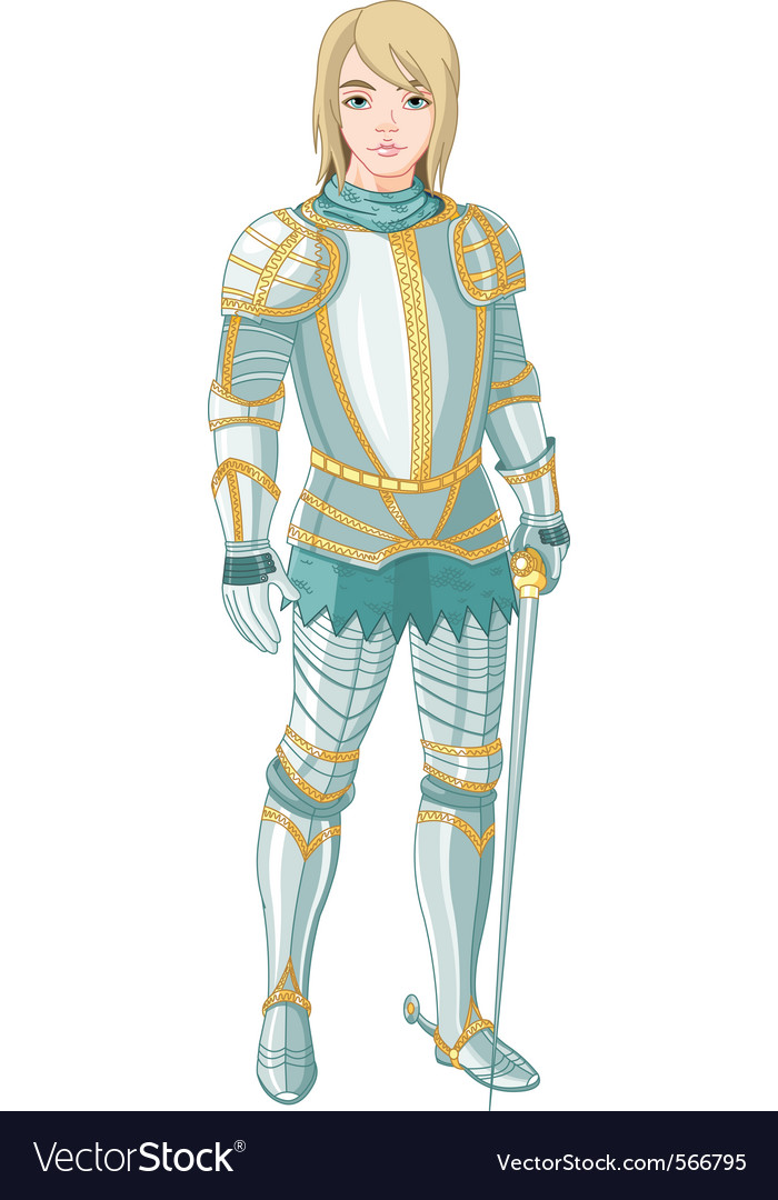 Young knight vector | Price: 3 Credit (USD $3)