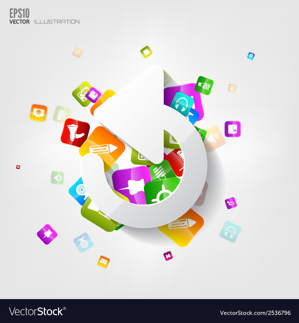 Application buttonsocial mediacloud computing vector | Price: 1 Credit (USD $1)