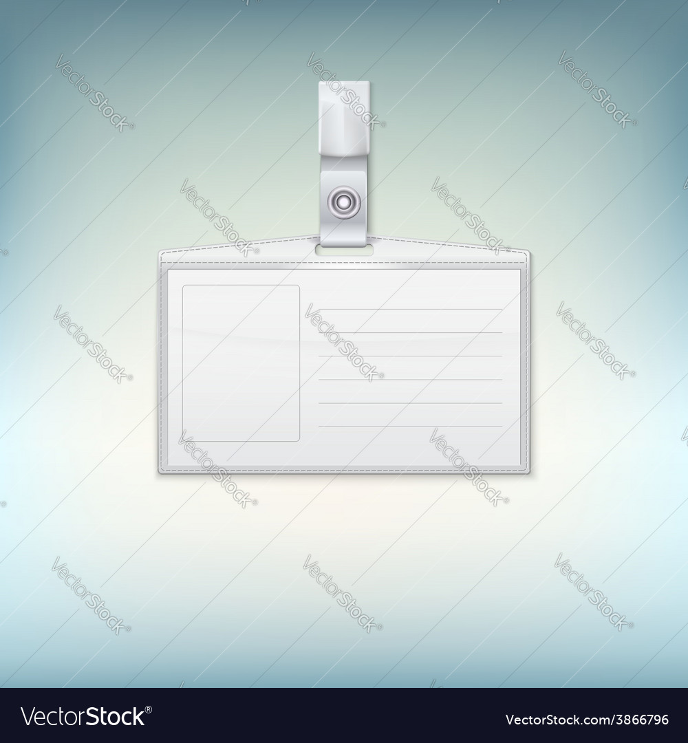 Badge holder on colored backgroound vector | Price: 1 Credit (USD $1)