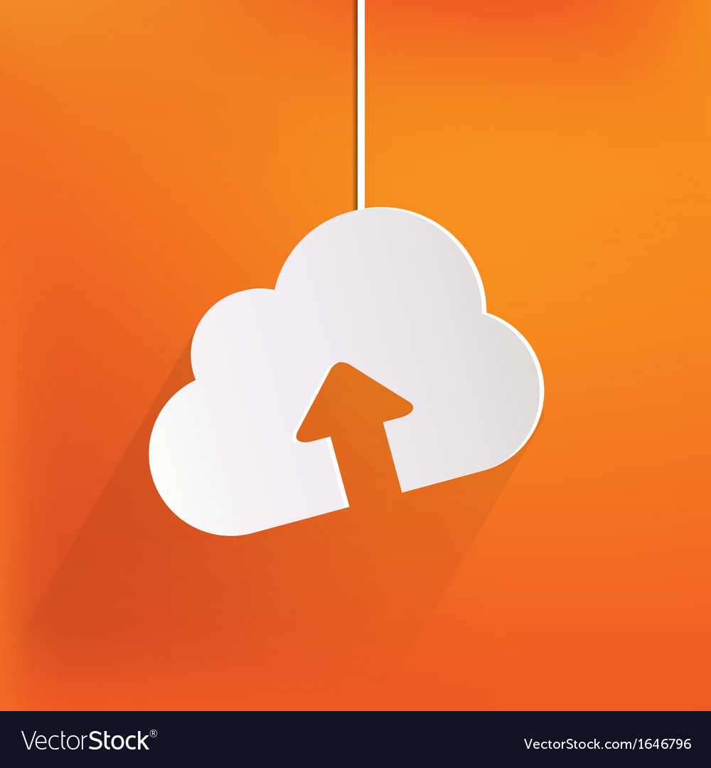 Cloud upload application web icon vector | Price: 1 Credit (USD $1)