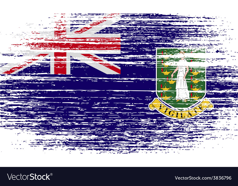 Flag of virgin islands uk with old texture vector | Price: 1 Credit (USD $1)