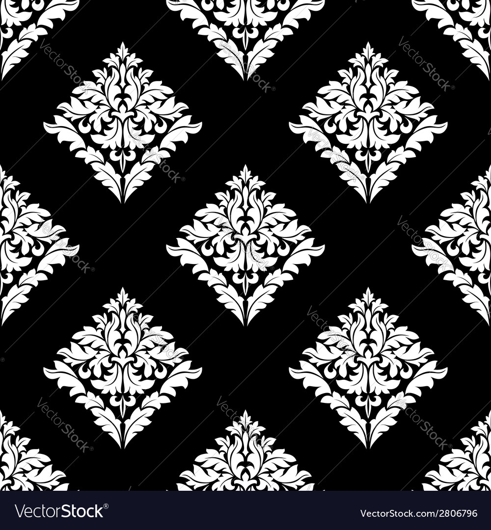 Floral damask seamless pattern vector | Price: 1 Credit (USD $1)