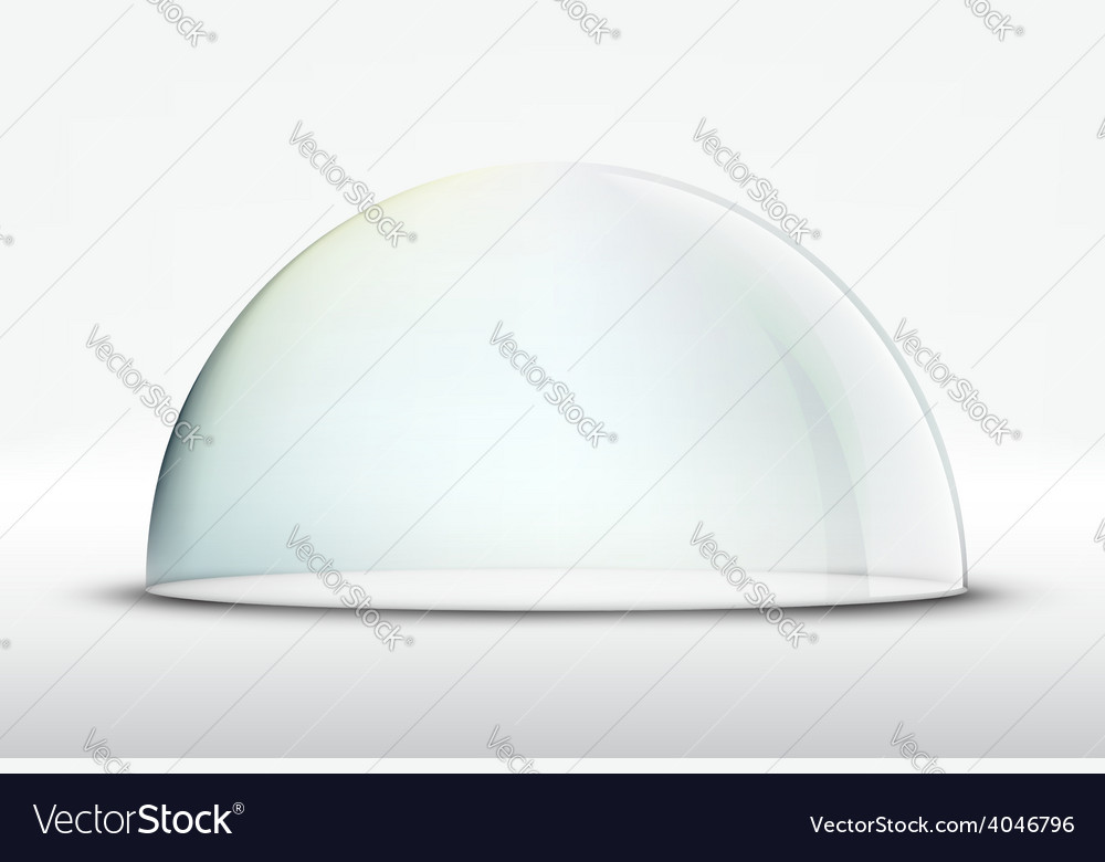 Glass dome on white background vector | Price: 1 Credit (USD $1)