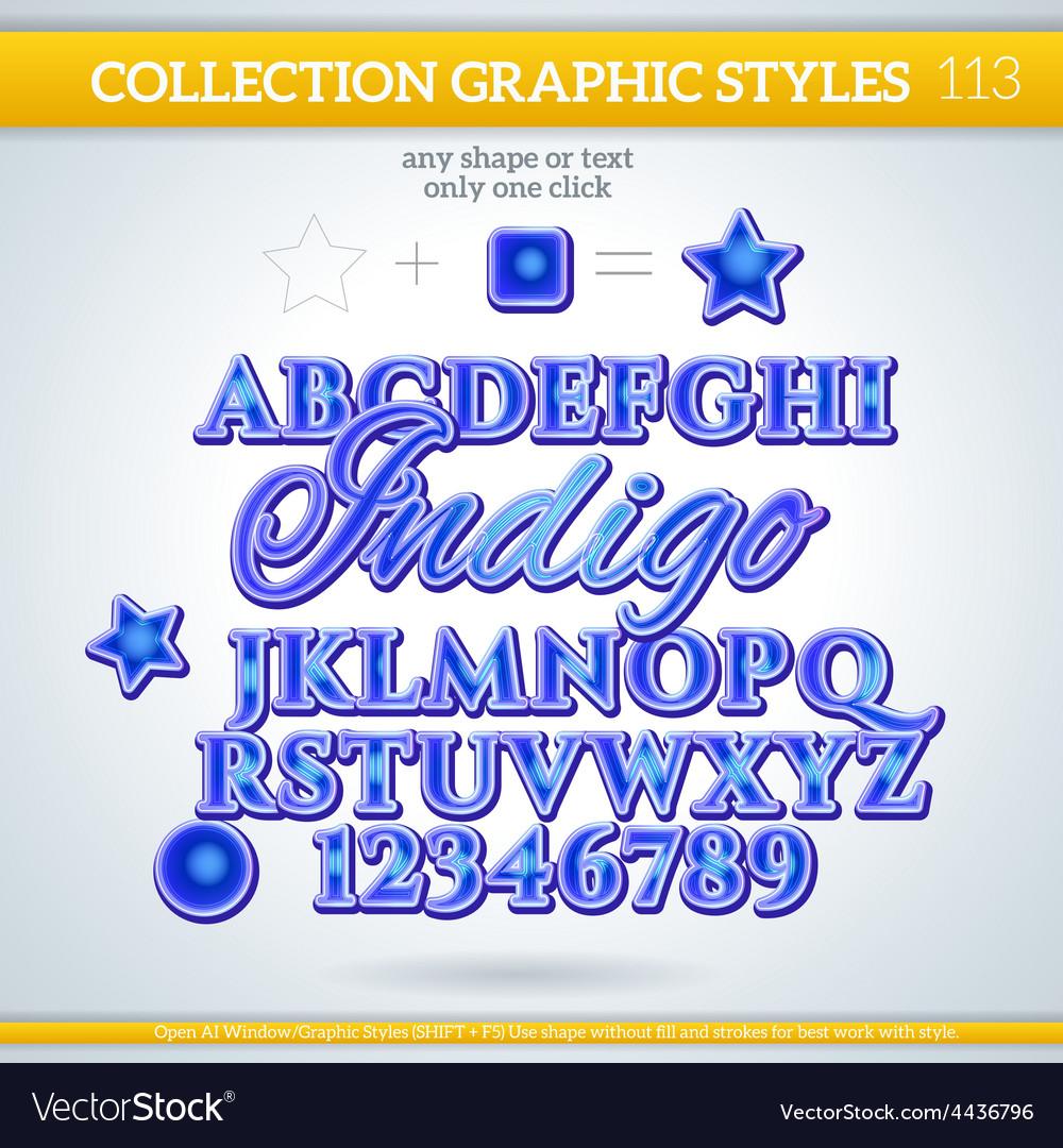 Indigo graphic style for design vector | Price: 1 Credit (USD $1)