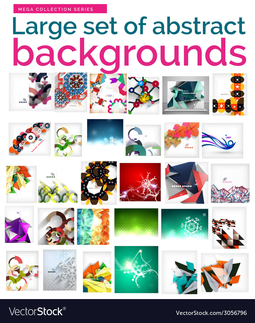 Large mega set of abstract backgrounds sale vector | Price: 1 Credit (USD $1)