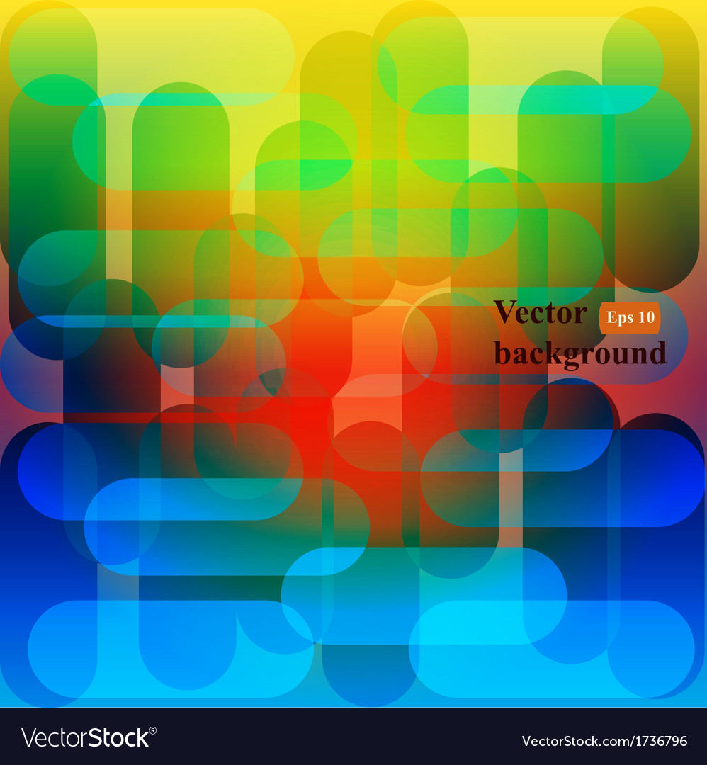 Retro background colorful mosaic banner vector | Price: 1 Credit (USD $1)