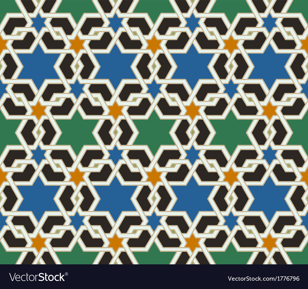 Seamless islamic geometric pattern vector | Price: 1 Credit (USD $1)