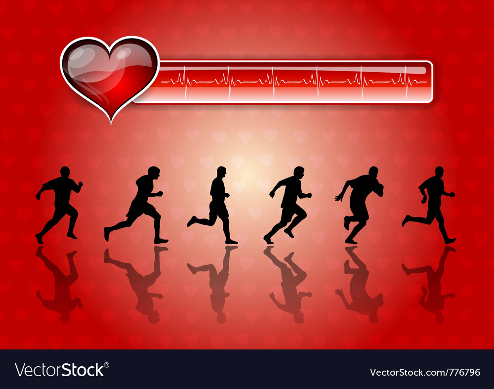 Silhouettes of runners vector | Price: 1 Credit (USD $1)
