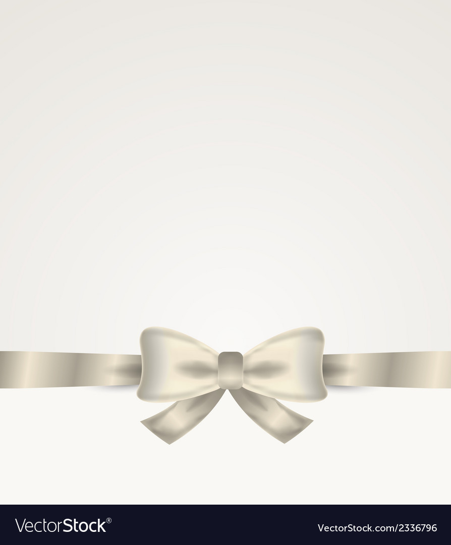 Silver ribbon with bow vector | Price: 1 Credit (USD $1)