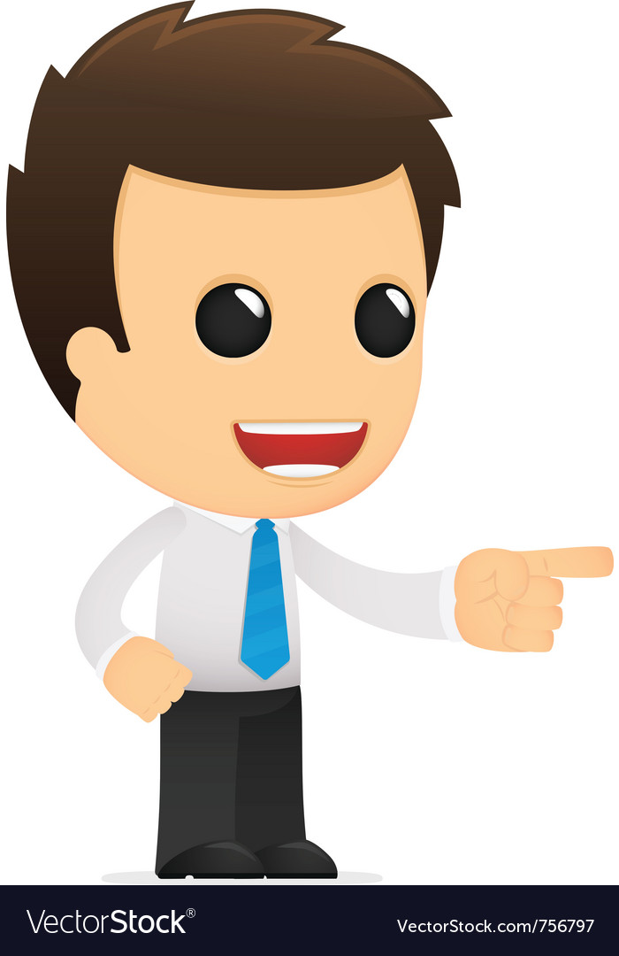 Cartoon office worker vector | Price: 1 Credit (USD $1)