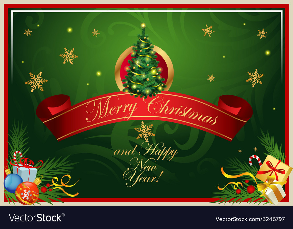 Classic christmas card vector | Price: 3 Credit (USD $3)