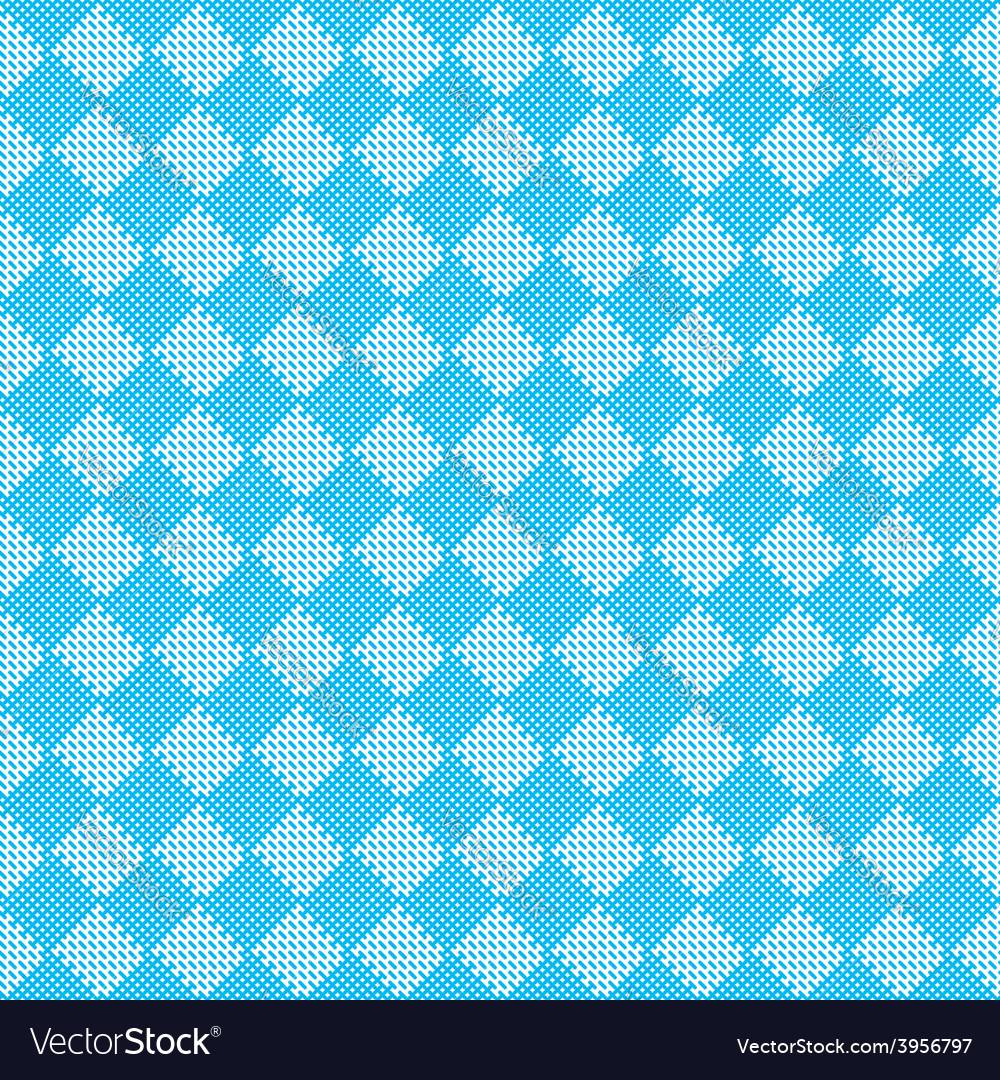 Diagonal blue seamless fabric texture pattern vector | Price: 1 Credit (USD $1)