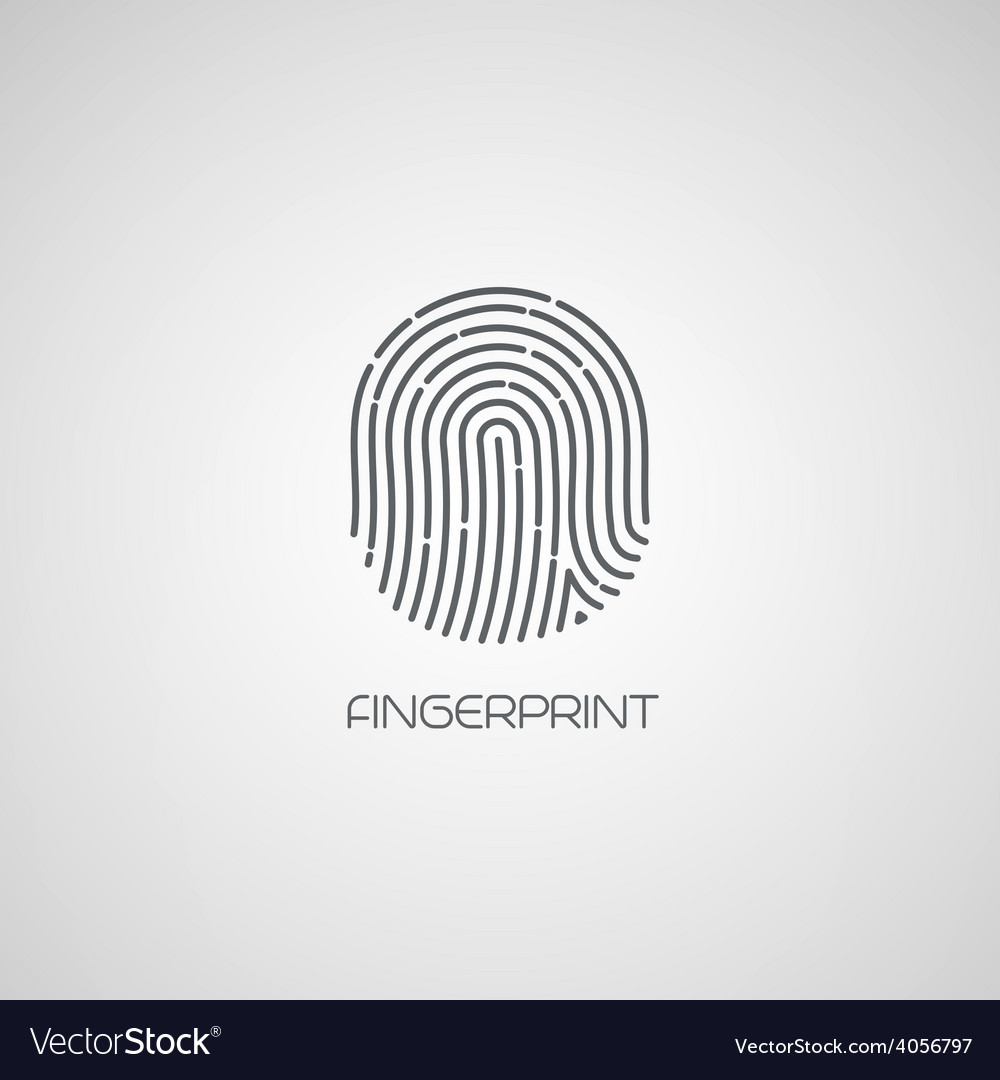 Fingerprint identification icon vector | Price: 1 Credit (USD $1)